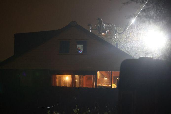 De brandweer is gisteravond groots uitgerukt naar Den Hoorn