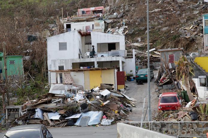 De schade die orkaan Irma aanrichtte op Sint-Maarten was enorm.