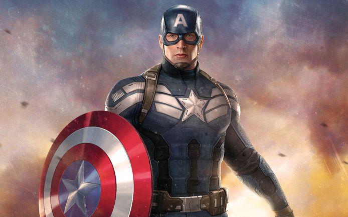 Captain America met zijn schild.