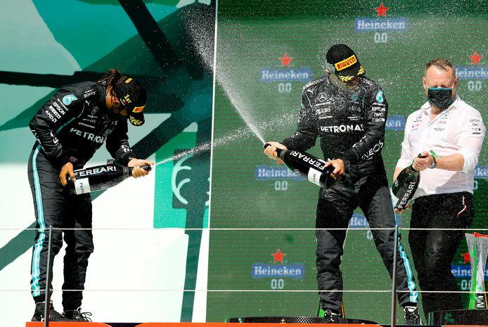 Feest bij Hamilton en Bottas.