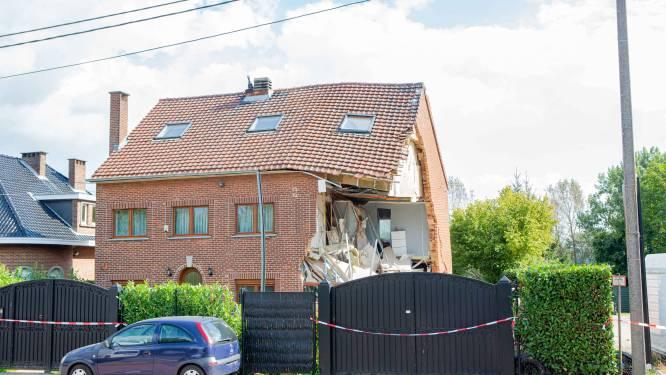Hoek van huis in Lot ingestort bij graafwerken, woning moet gedeeltelijk worden afgebroken