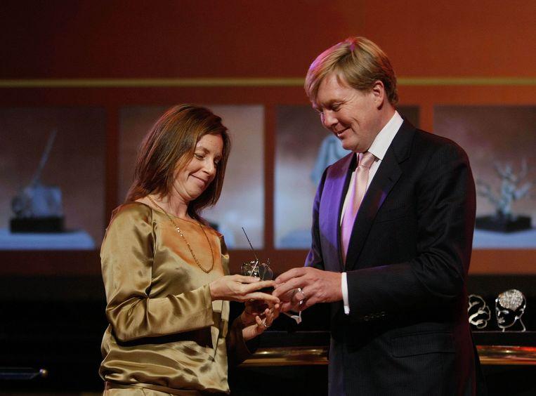 Barbara Visser ontving in 2008 uit handen van Willem-Alexander de Heinekenprijs. Beeld anp