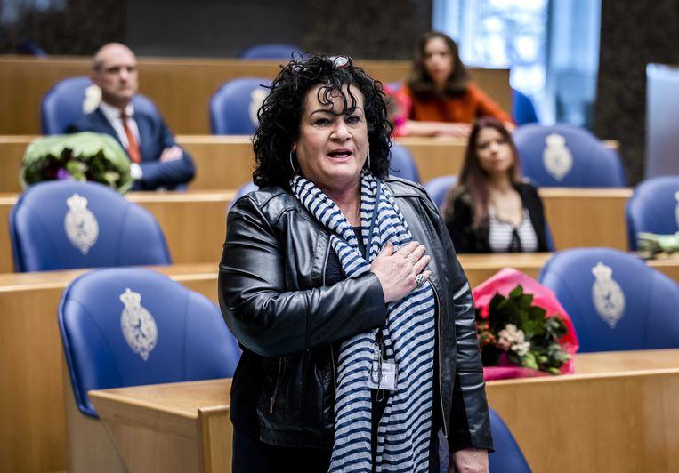 Caroline van der Plas wordt beëdigd als lid van de Tweede Kamer.  Beeld ANP