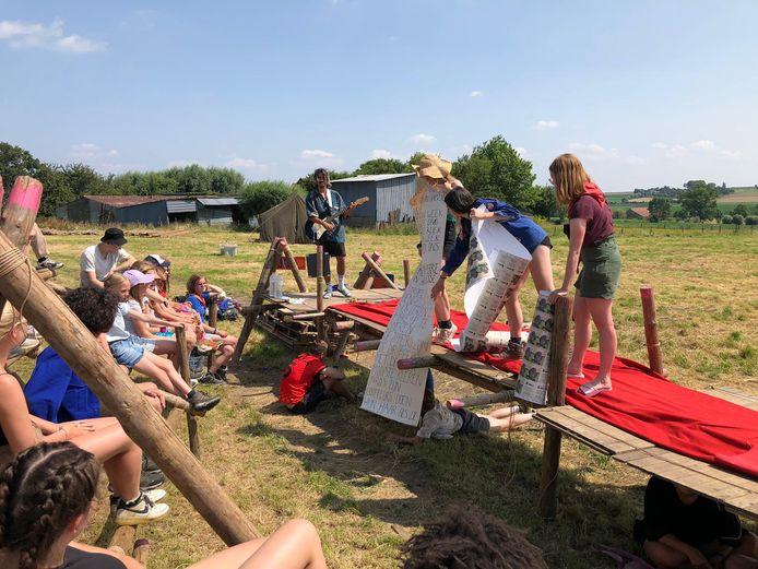 Festival Dranouter stelt weide Stille Camping Zone ter beschikking  voor KSA Mortsel.