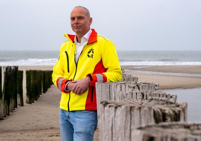 Tim de Jonge, voorzitter van de Domburgse Reddingsbrigade.