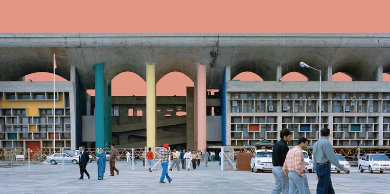 Zijn Ville Radieuse kon hij in Antwerpen nooit realiseren, maar twintig jaar later mocht Le Corbusier revanche nemen met het ontwerp van Chandigarh, de administratieve hoofdstad van Punjab, Beeld Bärbel Högner