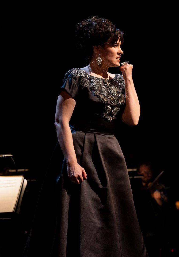 De Letse sopraan Marina Rebeka. Beeld De Nationale Opera / Ben van Duin