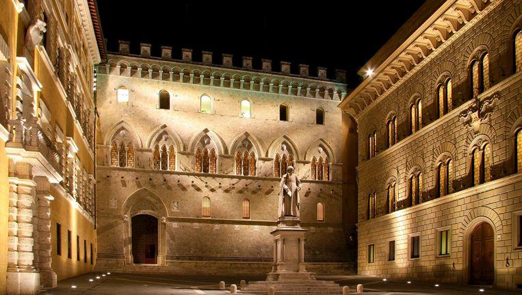 Het hoofdkwartier van het Palazzo Salimbeni aan het Piazza dei Salimbeni. Dat bevat onder meer een kunstcollectie. Beeld belga