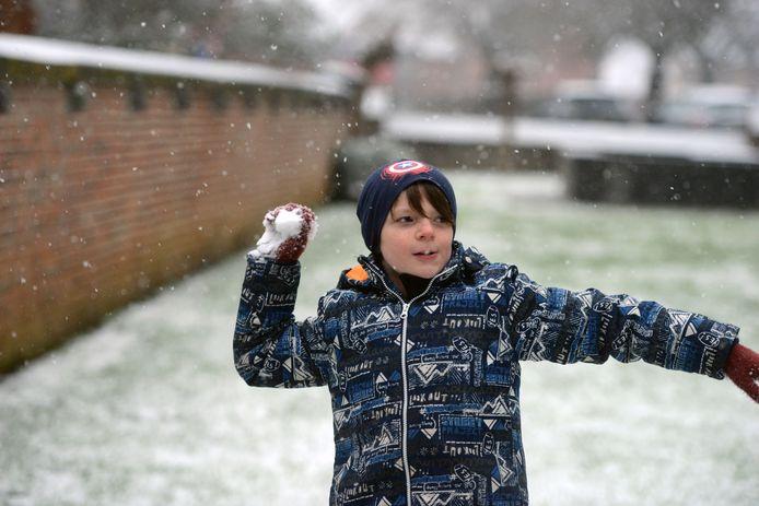 Sneeuw in regio Leuven: en dan het geschikte slachtoffer uitkiezen!