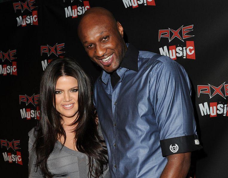 Khloé Kardashian en Lamar Odom bij een evenement.