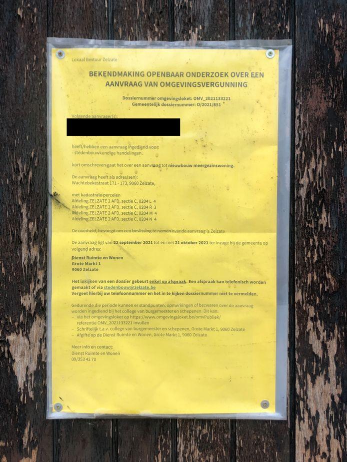 De eigenaar van de woning had net een aanvraag ingediend om de woningen af te breken