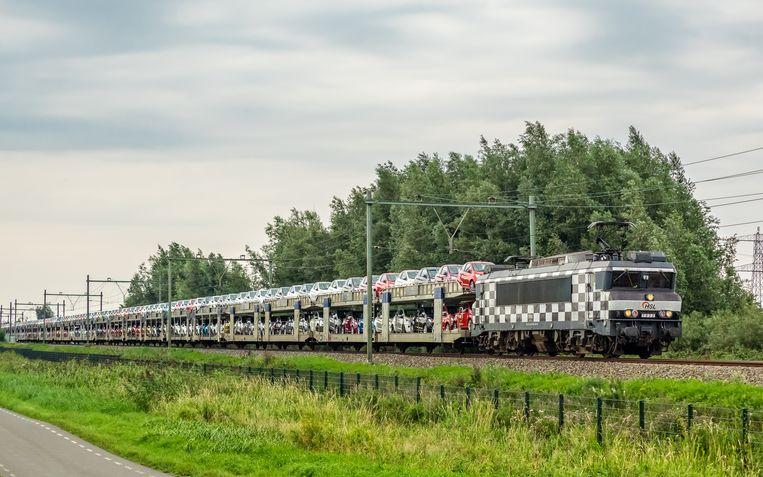 Autotrein van HSL logistik. Beeld RV