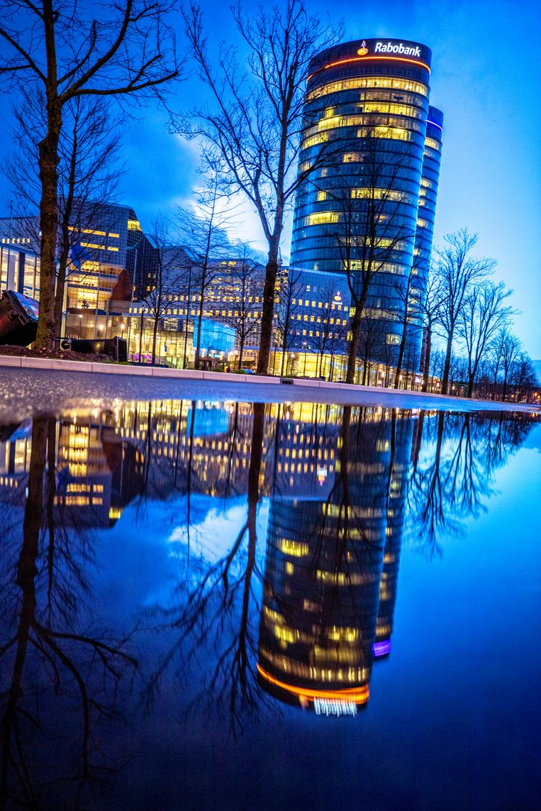 Het hoofdkantoor van de Rabobank in Utrecht. Beeld Raymond Rutting