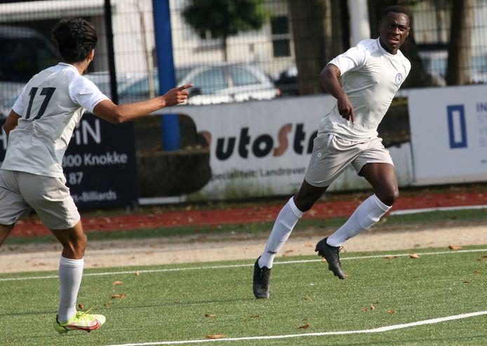 Thomas Nzinga scoorde de bevrijdende derde goal voor Rupel Boom vlak voor affluiten.