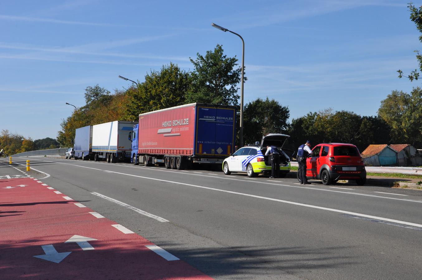 De politie organiseerde een controle op de N368 om de nood aan de ANPR-camera's te demonstreren.