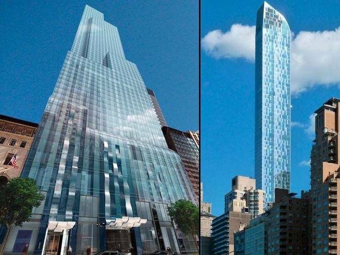 De futuristische One57-wolkenkrabber (306 meter) is gelegen in het New Yorkse stadsdeel Manhattan.