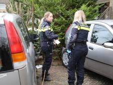 Oudere vrouw rijdt met auto door meerdere voortuinen in Mijdrecht