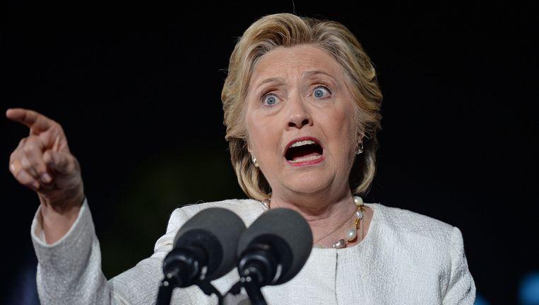 De Amerikaanse presidentskandidate Hillary Clinton. Beeld Photo News
