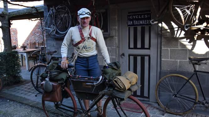 """Alex (57) in het spoor van wielerlegende Cyrille Van Hauwaert: """"Milaan-San Remo rijden op 113 jaar oude fiets en dan nog van Italië naar huis fietsen"""""""