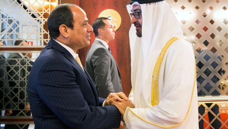 De Egyptische president Al-Sisi, links. Beeld epa
