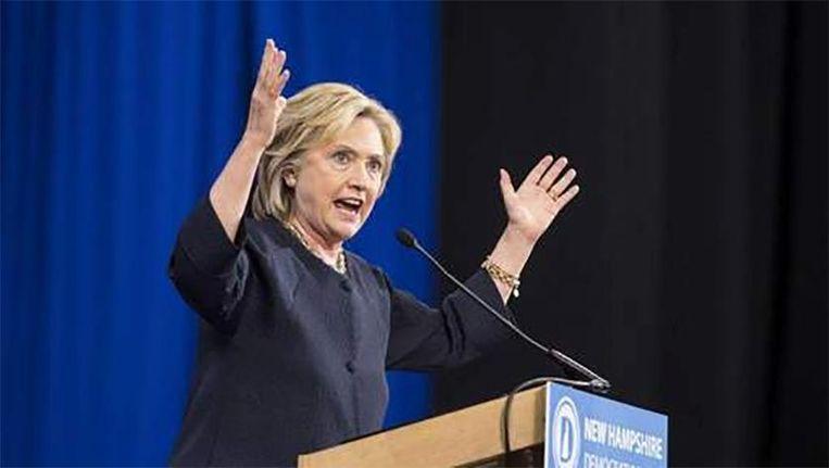 Niemand wordt echt warm van de campagne van Hillary Clinton. Beeld afp