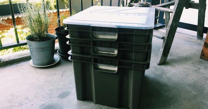 Het wormenhotel is functioneel voor iedereen die zelf compost wil maken.