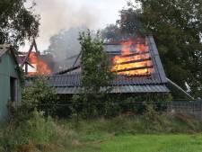 Brand verwoest schuur in Sint-Oedenrode