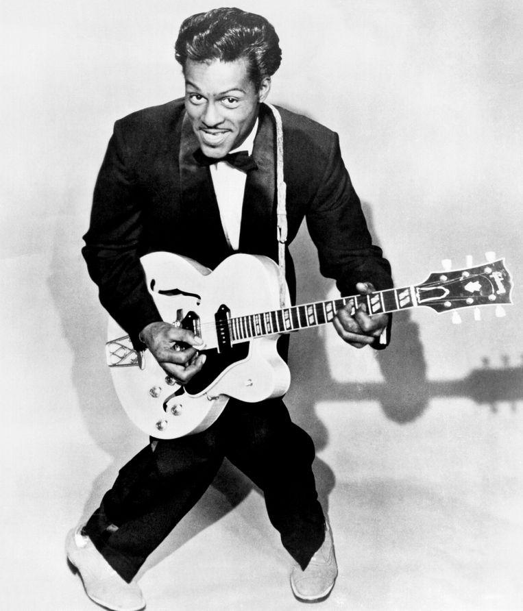 Chuck Berry, omstreeks 1958.  Beeld Michael Ochs Archives