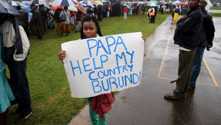Archiefbeeld van Burundese vrouw die oproep doet aan de paus om haar thuisland te helpen