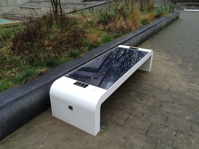 Zo ziet de solar zitbank eruit.