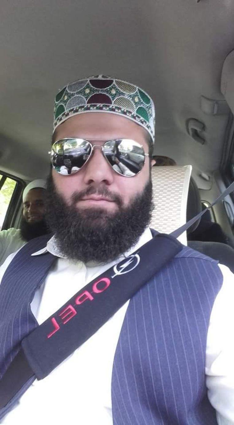 De Franse imam Luqman Haider die nu in de cel zit. Beeld Privébeeld