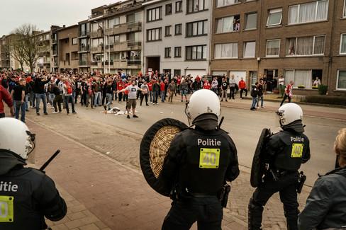 Foto van Antwerp wil schade na stadsderby verhalen op daders of Beerschot Wilrijk
