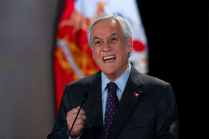 De Chileense president Sebastian Pinera.