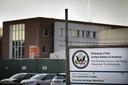 De nieuwe Amerikaanse ambassade in aanbouw
