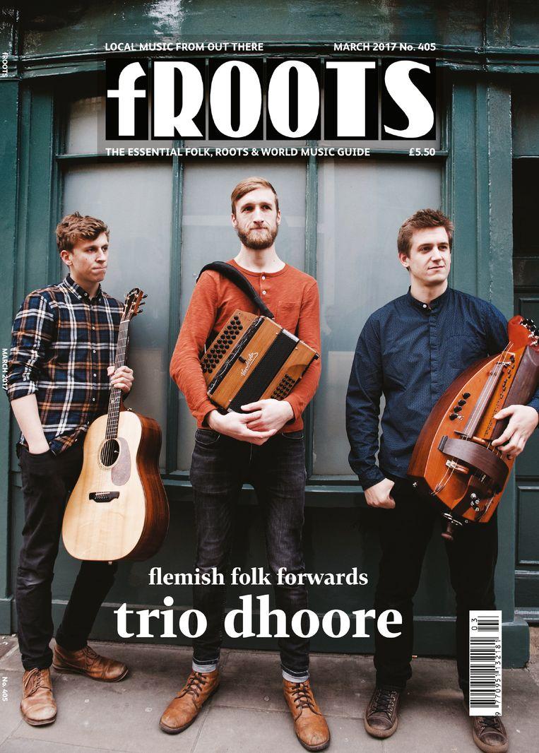 Trio Dhoore speelt dit weekend op Dranouter. Beeld rv Judith Burrows