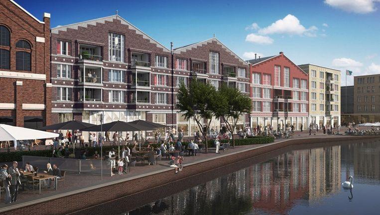 Het door architectenbureau ontwikkelde Oostpoort gezien vanaf het water. © OCP Beeld