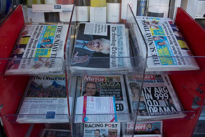 De Britse ochtendkranten openen net als zondag opnieuw met de brexit-perikelen