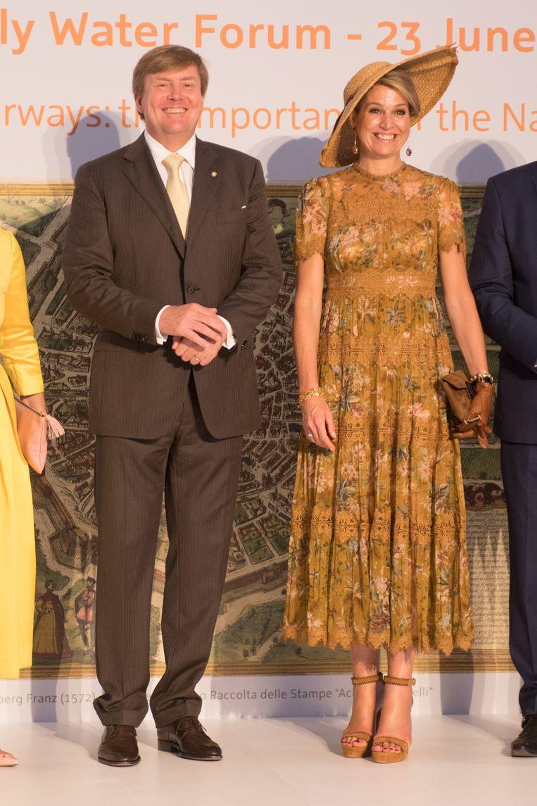 Staatsbezoek van koning Willem-Alexander en koningin Máxima aan Milaan. Beeld Brunopress