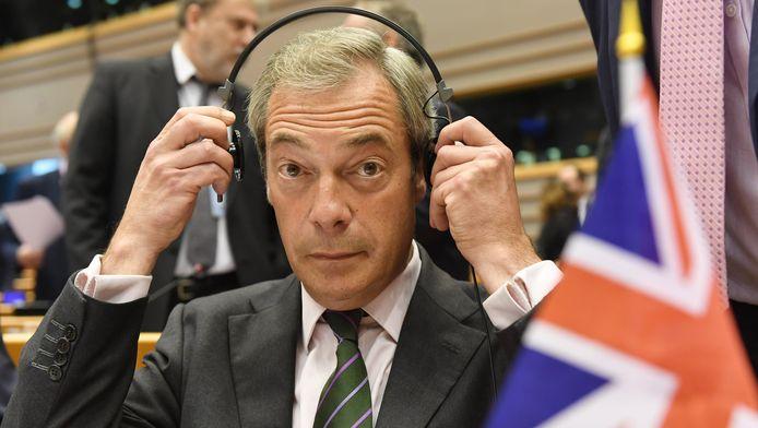 Le leader du parti europhobe Ukip Nigel Farage au Parlement européen à Bruxelles, le 28 juin 2016.