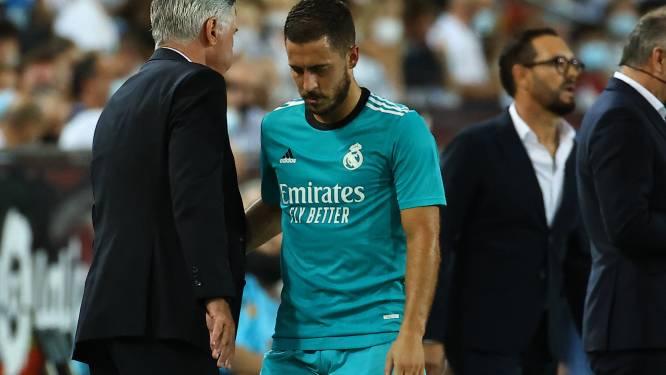 """Carlo Ancelotti à propos d'Eden Hazard: """"Il en a vraiment marre d'avoir ces problèmes"""""""