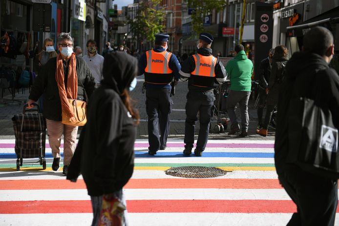 Leuven legde vorig jaar nog een regenboogzebrapad aan in de Diestsestraat.