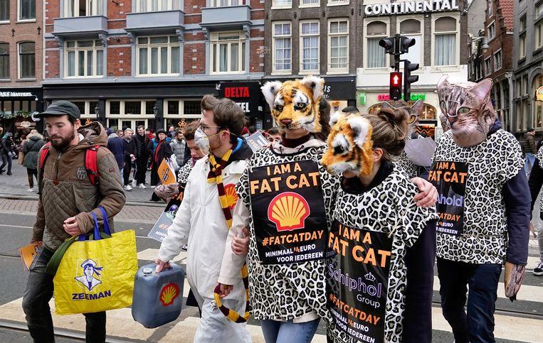 12 januari 2020 werd door FNV  bestempeld als 'Fat Cat Day'. Op die dag hadden de veertien meest invloedrijke ceo's in Nederland al het bedrag verdiend dat een minimumloner krijgt voor een jaar werk.  Beeld Hollandse Hoogte / Berlinda van Dam