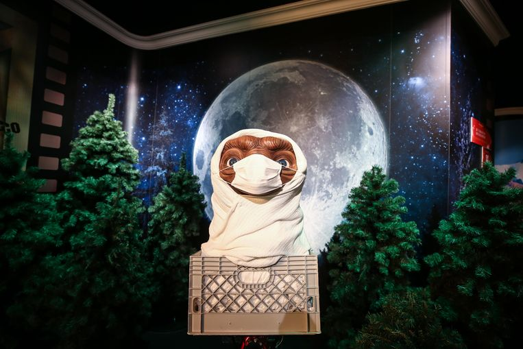 Wassenbeeld van E.T. bij het wassenbeeldenmuseum Madame Tussaud's in Istanbul, op 10 juli. Beeld Anadolu Agency via Getty Images