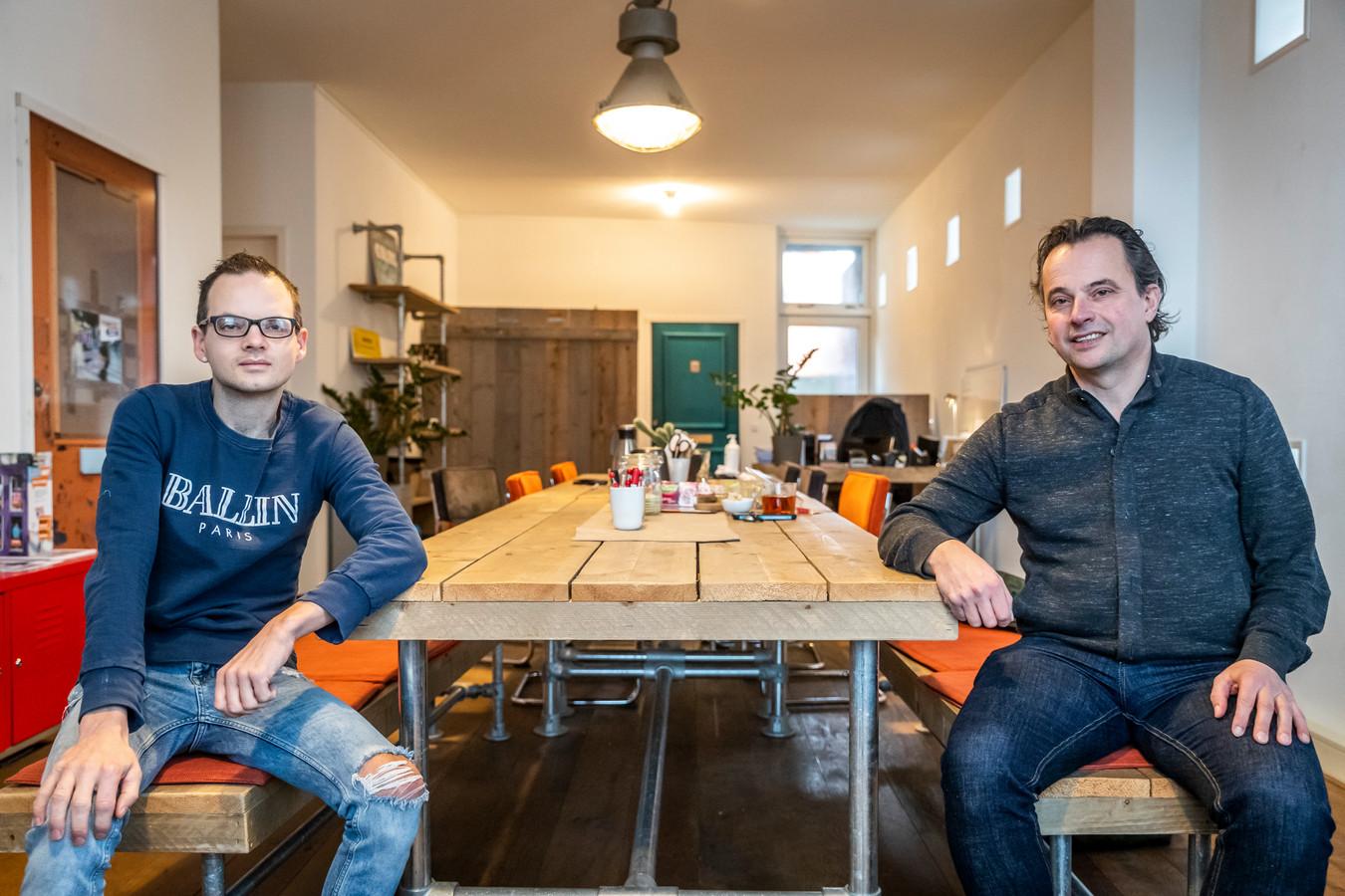 Mark Evers (links) en Jeroen Pijnenburg van Eindhoven in Contact.