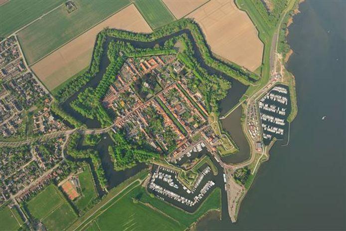 Luchtfoto vestingstadje Willemstad