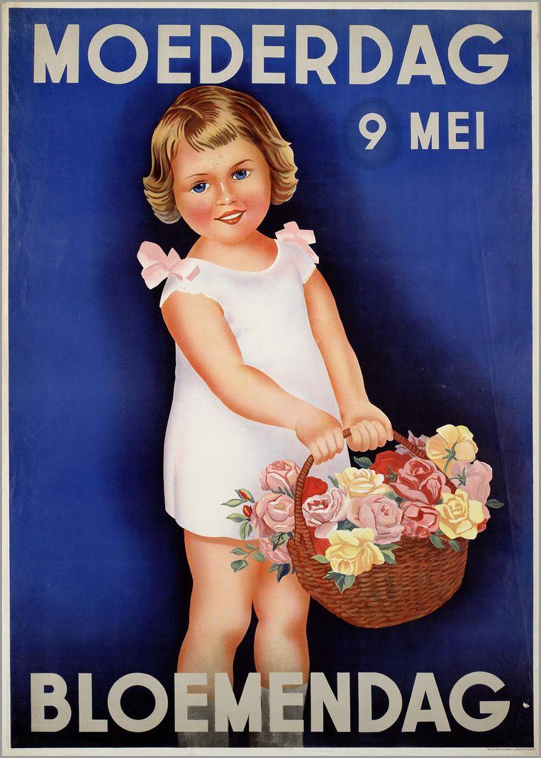 Moederdag, bloemendag.  In Nederland was het de Koninklijke Maatschappij voor Tuinbouw en Plantkunde die de feestdag in de jaren 20 begon te promoten, net om zo meer bloemen te kunnen verkopen.  Beeld rv