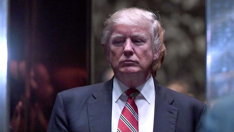 Donald Trump in de Trump Tower in New York. Beeld epa
