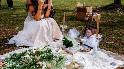 Hartbrekende foto's tonen bruid terwijl ze rouwt aan graf van haar geliefde die werd doodgeschoten toen hij Xbox wilde verkopen