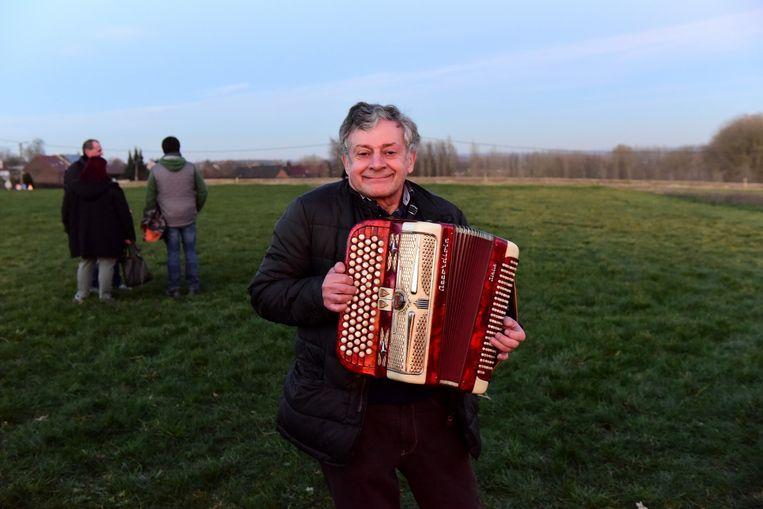 Roland Sergeant zorgde voor de nodige muziek