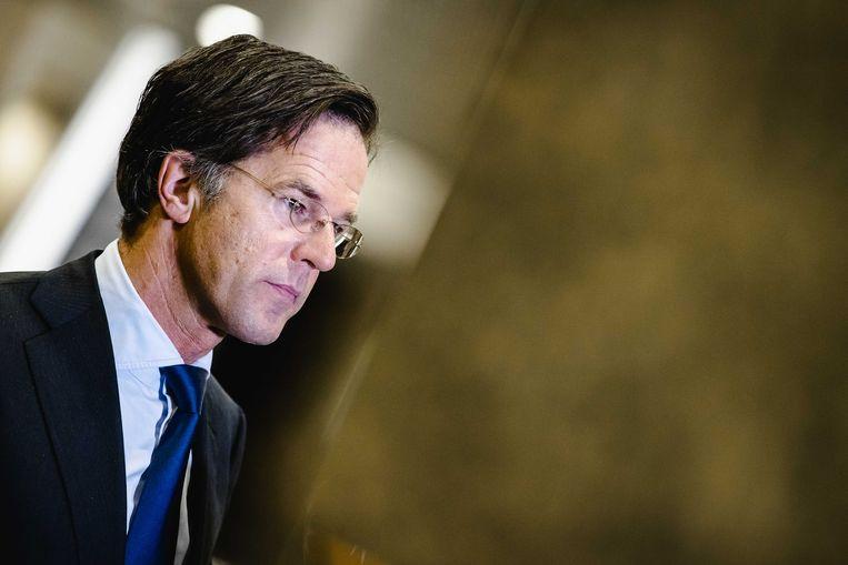 De Nederlandse premier Mark Rutte. Beeld ANP